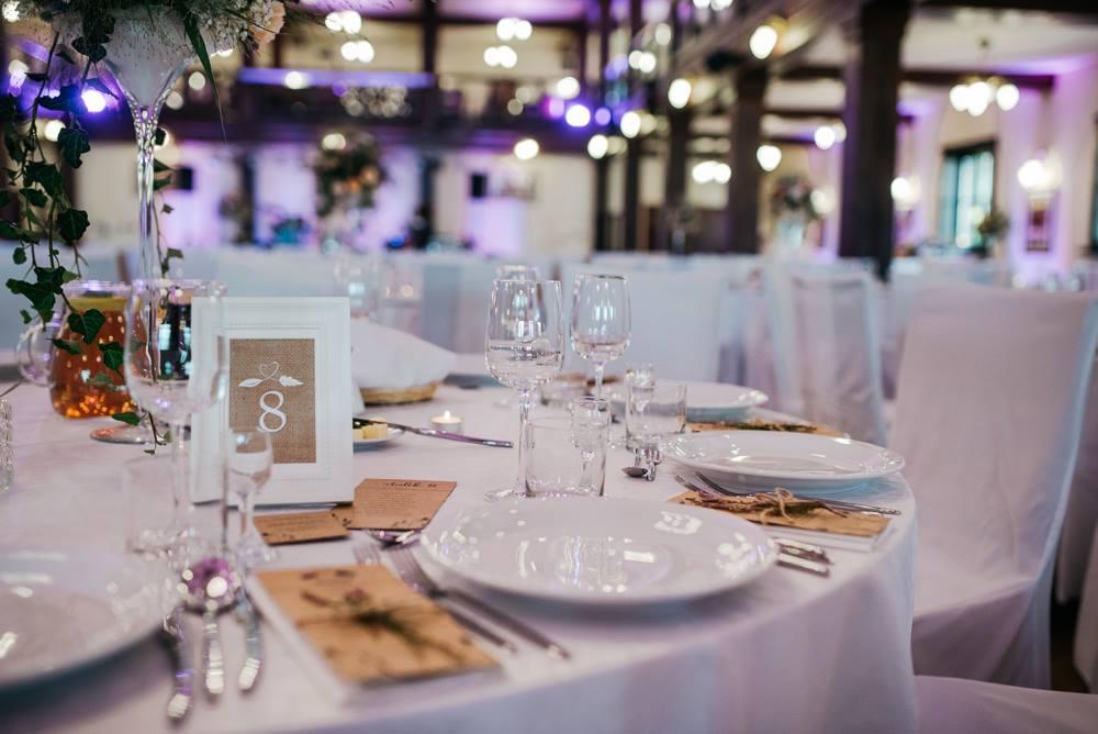 eco dekoracja stołu weselnego