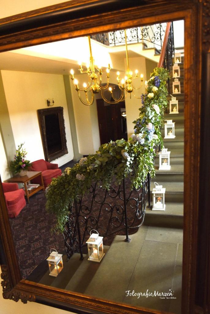 dekoracja schodów wesele